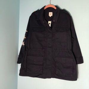 Gap utility jacket snap buttons SZ L